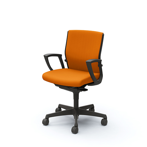 エスクード チェア オカムラ 固定肘付き オフィスチェア 肘付きチェア リング肘 布張りチェア デスクチェア オフィス家具 送料無料 C443ZR-FFW