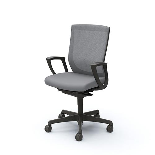 エスクード チェア オカムラ 送料無料 肘付きチェア 固定肘 デスクチェア オフィスチェア 事務椅子 ミーティングチェア オフィス家具 C447ZR-FHB