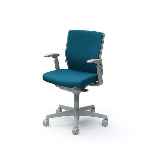 エスクード チェア オカムラ ローバック 布張りチェア 可動肘付き グレーフレーム オフィスチェア オフィス家具 送料無料 C493GR-FFW