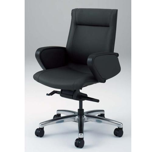 エグゼクティブチェア オカムラ 送料無料 パネル肘 ローバック 革張りチェア ミーティングチェア デスクチェア 会議室 オフィス ブラック CE59CZ-P558