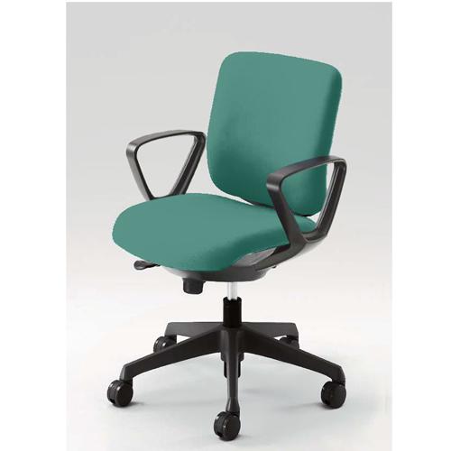 オフィスチェア オカムラ 送料無料 固定肘付き ロータイプ 布張りチェア オフィスチェア デスクチェア ミーティングチェア SOHO 事務椅子 CN43ZR-FM