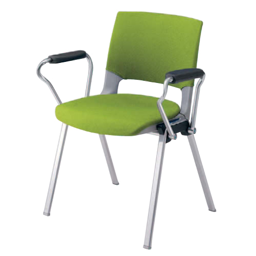 スタッキングチェア 肘付き 送料無料 布張り シンプル カラフル オフィスチェア デスクチェア ミーティングチェア パソコンチェア 椅子 イス 会社 HD12BA-FB