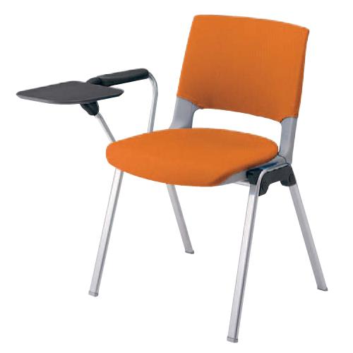 スタッキングチェア 片肘付き 送料無料 シンプル オフィスチェア メモ台付き タブレット付き カラフル ミーティングチェア 会社 会議 イス 椅子 HD12BT-FB