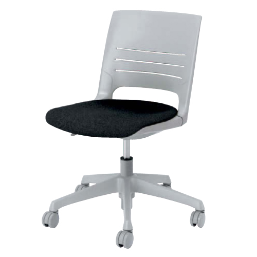 ミーティングチェア キャスター付き 送料無料 5本脚 布製 ファブリック 昇降式 チェア デスクチェア パソコンチェア オフィスチェア 椅子 イス HD13AZ-FB