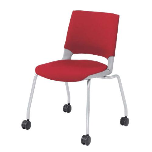 ミーティングチェア キャスター付き 送料無料 チェア 会社 会議 事務 デスクチェア パソコンチェア オフィスチェア 椅子 イス 布製 ファブリック HD22CZ-FB