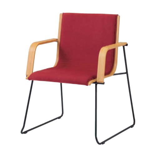 【11/15限定最大1万円クーポン&カード利用でポイント5倍】 ミーティングチェア 肘付き 送料無料 布張り 竹 打ち合わせスペース モダンチェア おしゃれ 固定肘付きチェア チェア 椅子 オフィス家具 L101FA-F