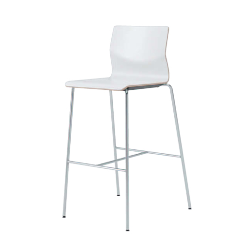 カウンターチェア 送料無料 ホワイトシェル ヌードタイプ ハイチェア カフェ 飲食店 カウンター 休憩スペース ハイタイプ チェア 椅子 L409XR-MS83