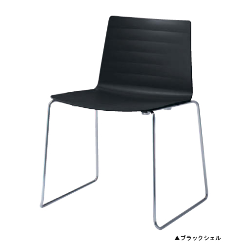 スタッキングチェア 送料無料 クローズ脚タイプ 会議室チェア 肘なしチェア おしゃれ シンプル オフィスチェア チェア 椅子 L429FE-GD