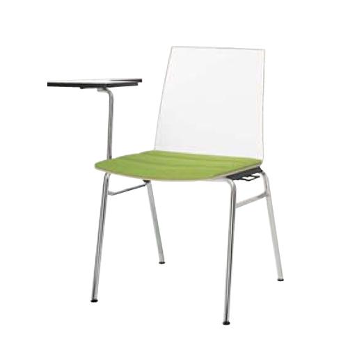 スタッキングチェア 送料無料 テーブル付きチェア オフィスチェア 研修 セミナー チェア オフィス家具 ミーティングチェア L636DT-P781