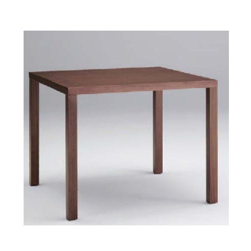 ミーティングテーブル 幅90×奥行90cm 送料無料 角型テーブル 正方形天板 木脚テーブル 会議テーブル オフィステーブル ミーティングスペース 会議室 L667-BZ