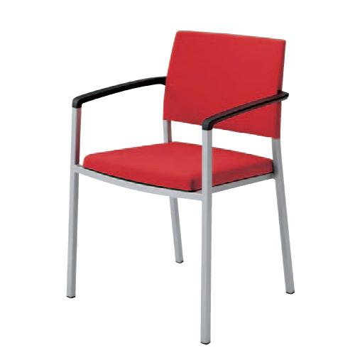 スタッキングチェア 肘付き 送料無料 背パット付き 布張りチェア オフィスチェア 会議室チェア 椅子 いす 肘付き椅子 オフィス家具 会議室 L675BZ-FFW