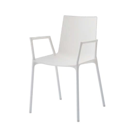【全品P5倍6/10 13時~17時&最大1万円クーポン6/11 2時まで】ミーティングチェア 肘付き 送料無料 ホワイトシェル シンプルチェア オフィス家具 チェア 椅子オフィスチェア 椅子 肘付きチェア L678ZA-GB19