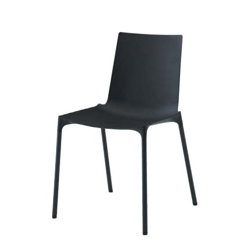 ミーティングチェア 送料無料 肘なしチェア ブラックシェル オフィスチェア オフィス家具椅子 シンプルモダン おしゃれ ロビー 事務所 L678ZZ-GB18