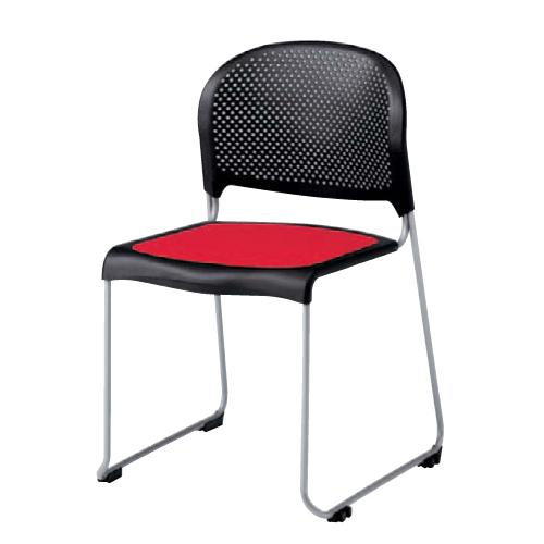 【全品P5倍6/10 13時~17時&最大1万円クーポン6/11 2時まで】スタッキングチェア 送料無料 シンプル オフィスチェア デスクチェア ミーティングチェア パソコンチェア 椅子 イス カラフル テーブルチェア 8114FS-F