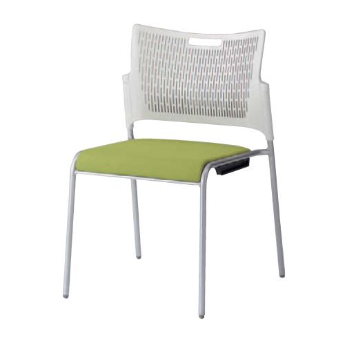 スタッキングチェア 送料無料 オフィスチェア デスクチェア ミーティングチェア イス 椅子 オフィス家具 会議 シンプル カラフル ホワイト 81R2AX-FFW