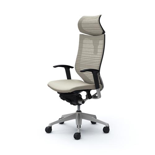 バロン チェア オカムラ オフィスチェア 岡村製作所 椅子 イス シンプル パソコンチェア メッシュチェア キャスター付き 肘掛け CP81DR-FGR 送料無料