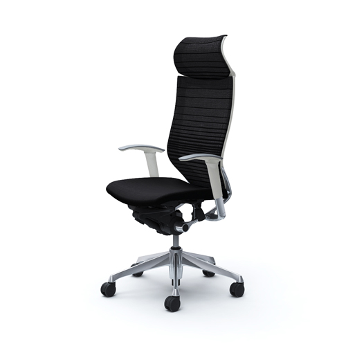 バロン チェア オカムラ オフィスチェア メッシュチェア パソコンチェア 椅子 ハイバック キャスター付き ひじ掛け 岡村製作所 CP87BW-FGR 送料無料