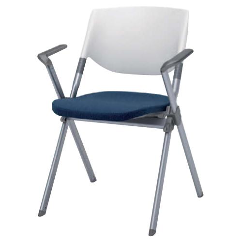 スタッキングチェア 肘付き 送料無料 デスクチェア パソコンチェア イス オフィスチェア 椅子 会社 シンプル カラフル ミーティングチェア H141BB-FFW