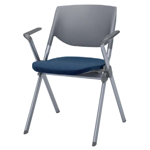 【最大1万円クーポン3/21 20:00~3/28 1:59】スタッキングチェア 肘付き 送料無料 布張り シンプル カラフル 会議 デスクチェア オフィスチェア ミーティングチェア パソコンチェア 椅子 イス H141BR-FFW