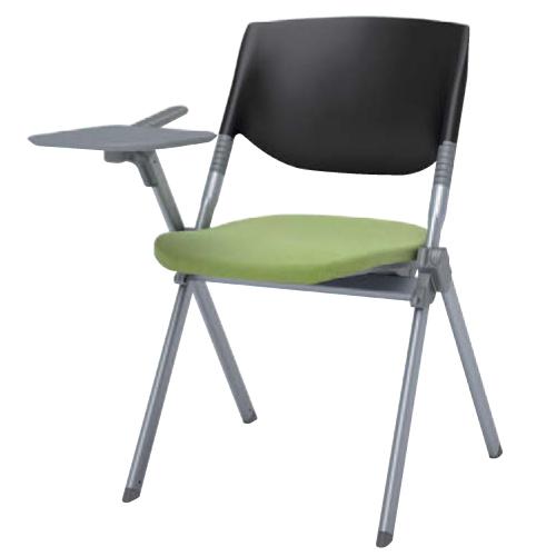 【全品P5倍6/10 13時~17時&最大1万円クーポン6/11 2時まで】スタッキングチェア 送料無料 デスクチェア ミーティングチェア パソコンチェア 椅子 イス 布張り テーブル付き タブレット付き オフィスチェア H141TZ-FFW