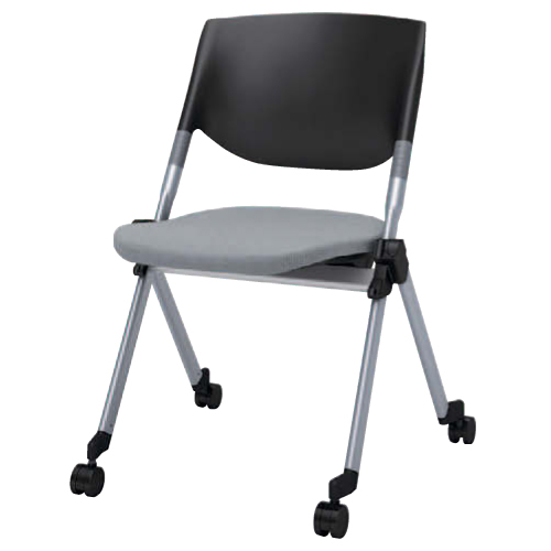スタッキングチェア キャスター付き 送料無料 ミーティングチェア パソコンチェア 椅子 イス 布張り シンプル オフィスチェア デスクチェア H141ZC-FFW