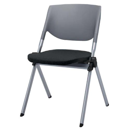 スタッキングチェア 送料無料 布張り シンプル カラフル 会議 オフィスチェア デスクチェア ミーティングチェア パソコンチェア 椅子 イス H141ZR-FFW