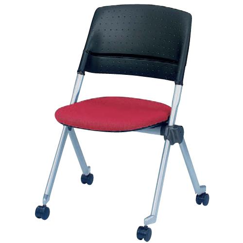 スタッキングチェア キャスター付き 送料無料 ロッキング機能 ネスティング 会議室 ミーティングチェア デスクチェア オフィス家具 椅子 イス H161YC-FX