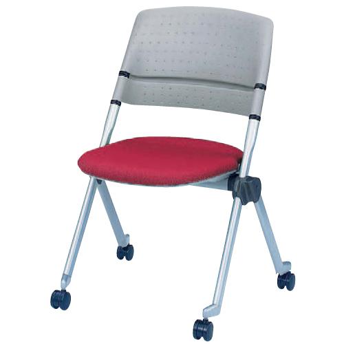 スタッキングチェア 肘なし キャスター 送料無料 グレー 会議室 ミーティングチェア 椅子 オフィス家具 カラフル ネスティング ロッキングチェア H161YS-FX