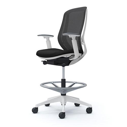 シルフィー オカムラ 可動肘 ハイチェア ハイバック メッシュタイプ ホワイトボディ ホワイト脚 オフィスチェア デスクチェア メッシュチェア 椅子 岡村 C685JW
