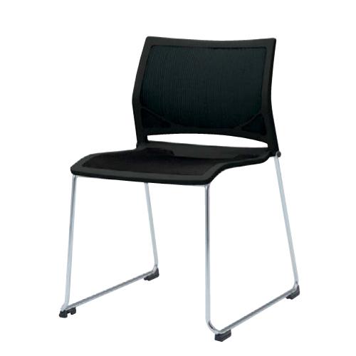 スタッキングチェア 送料無料 布製 ファブリック ミーティングチェア デスクチェア パソコンチェア オフィスチェア 椅子 イス カラフル シンプル 81R1AR-F