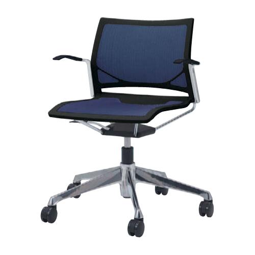 ミーティングチェア 肘付き キャスター付き 送料無料 シンプル デスクチェア パソコンチェア イス 布製 ファブリック 椅子 回転椅子 オフィスチェア 81R1FL-F