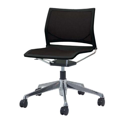 ミーティングチェア キャスター付き 送料無料 回転椅子 オフィスチェア シンプル デスクチェア パソコンチェア イス 椅子 布製 ファブリック 81R1FR-F