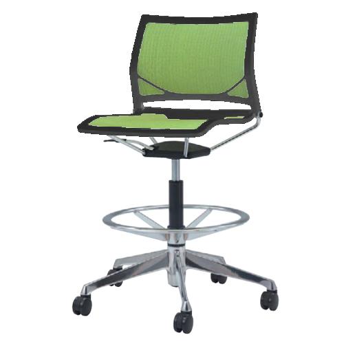 ミーティングチェア キャスター付き 送料無料 デスクチェア パソコンチェア オフィスチェア 布製 ファブリック 椅子 イス カラフル シンプル 81R1GR-F