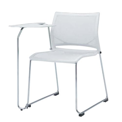 スタッキングチェア 送料無料 布製 メモ台付き タブレット付き テーブル付き 椅子 イス オフィスチェア シンプル デスクチェア ミーティングチェア 81R1TE-F