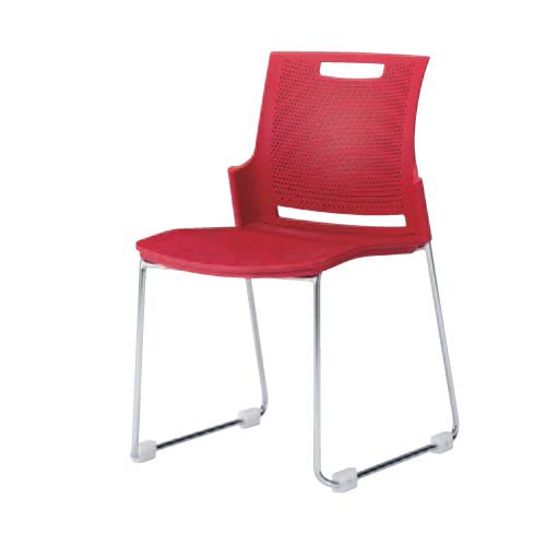 スタッキングチェア 送料無料 デスクチェア パソコンチェア オフィスチェア 椅子 イス カラフル シンプル 会社 会議 施設 ミーティングチェア 9315RA-GB73