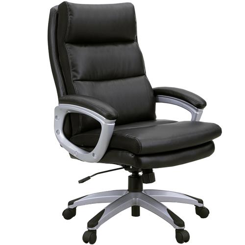 エグゼクティブチェア 肘付き チェア ハイバック 椅子 デスク用 パソコン用 キャスター付き リクライニング 座面昇降 オフィス チェア 191182