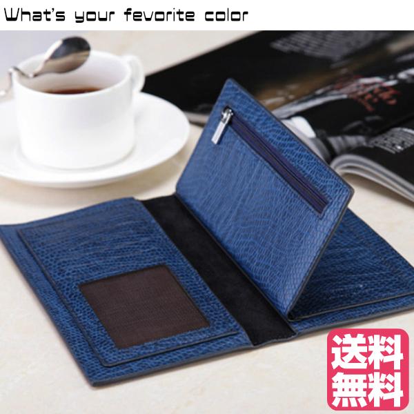 ロングウォレット 4カラー本革 二つ折り薄い 長財布 サイフ 財布 小銭入れ カードケース