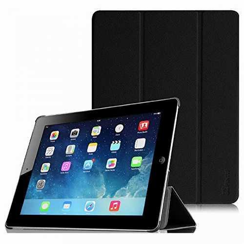 対応機種 Apple iPad 2 3 4 結婚祝い 専用 スマートケース カバー 超薄型 最軽量 ブラック 三つ折スタンドタイプ 高級PUレザー オートスリープ機能付き 第3世代 第4世代 開店祝い Fintie 保護ケース