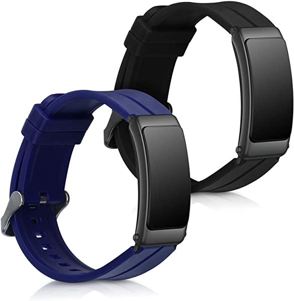 未使用 タイプ:黒色 紺色 Large Huawei Talkband B6 交換 シリコン アームバンド 送料無料 未使用 スポーツアームバンド 2x フィットネストラッカ