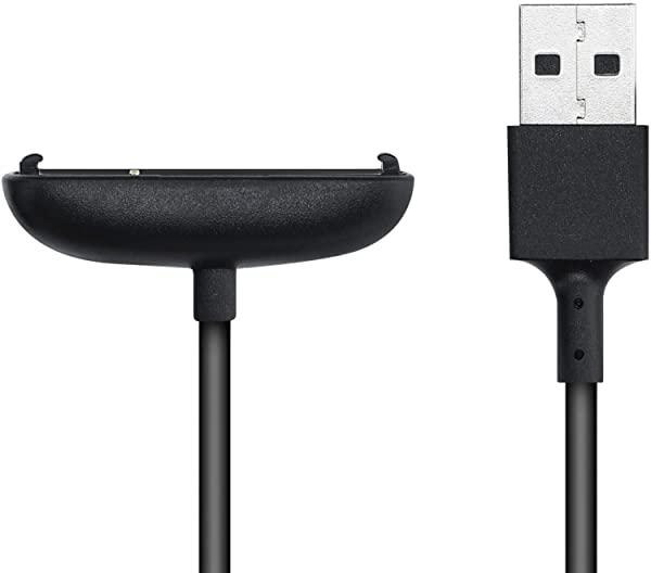 タイプ:黒色 Fitbit Inspire 正規逆輸入品 2 USB 充電ケーブル フィットネストラッカー チャージャー 充電 送料無料 供え スペア