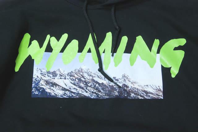 KANYE WEST 18SS WYOMING HOODIE Wyoming hoodie M black Long Sleeve  Sweatshirt Pullover Print Parker WYOMING MERCHANDISE tops【KANYE WEST】