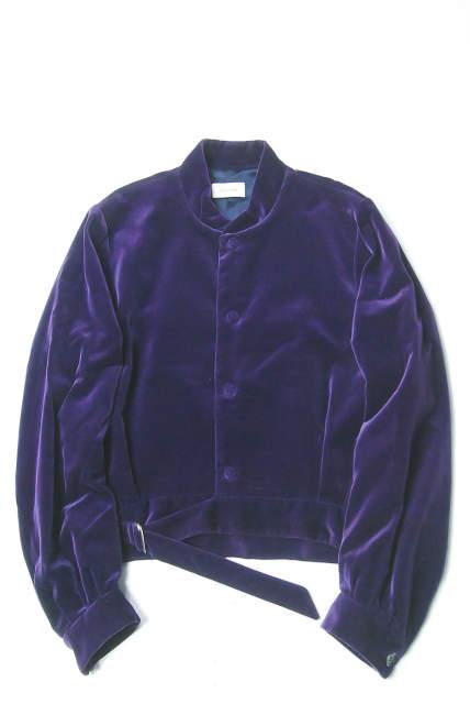 BED J.W. FORD ベッドフォード 16AW 日本製 Battle Dress Jacket ベロアバトルドレスジャケット 16AW-B-JM03 パープル チャイナジャケット アウター【中古】【BED J.W. FORD】