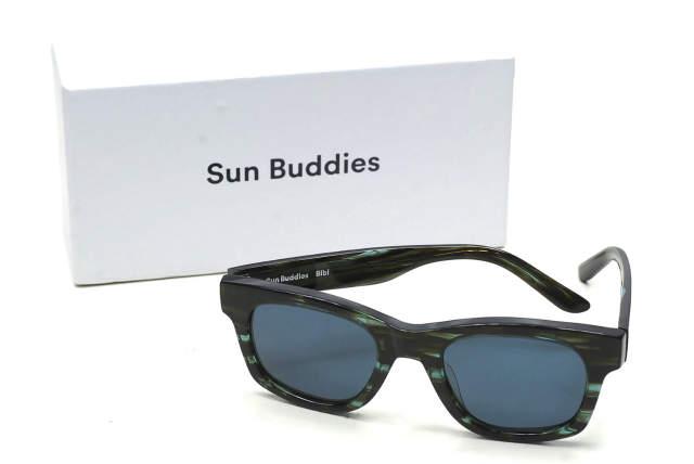 Sun Buddies サンバディーズ 18SS Bibi スクエアフレームサングラス ブルー 眼鏡 メガネ【新古品】【中古】【Sun Buddies】