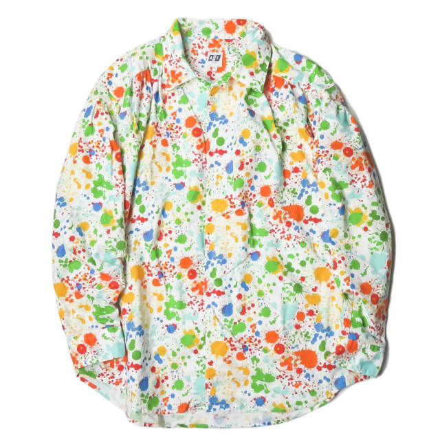 AiE (Arts in Education) エーアイイー 19SS アメリカ製 Painter Shirt Paint Splatter Print ペインターシャツ ペイントスプラッタープリント EJ489 L ホワイト トップス【中古】【AiE (Arts in Education)】