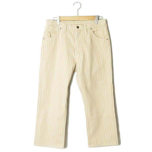 UNUSED アンユーズド 19SS 日本製 12oz stripe denim pants 12オンス ストライプデニムパンツ UW0757 3 Beige/White コットン 5ポケット ボトムス【新古品】【中古】【UNUSED】