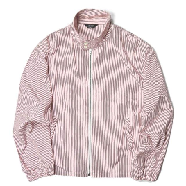 UNUSED アンユーズド 19SS 日本製 stripe drizzler jacket ストライプドリズラージャケット US1564 4 レッド スイングトップ ブルゾン アウター【中古】【UNUSED】
