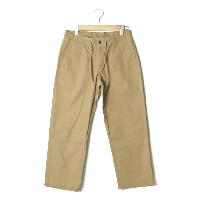 GBS trousers ジービーエス トラウザーズ イタリア製 CESARE タックイージートラウザーパンツ GKS-5507 48 ベージュ コットン ボトムス【中古】【GBS trousers】