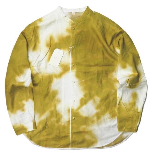 bukht ブフト 日本製 NEW BAND COLLAR SHIRTS PIGMENT SPRAY スプレー染め バンドカラーシャツ BW-95202 2(M) YELLOW OCHRE 長袖 トップス【新古品】【中古】【bukht】