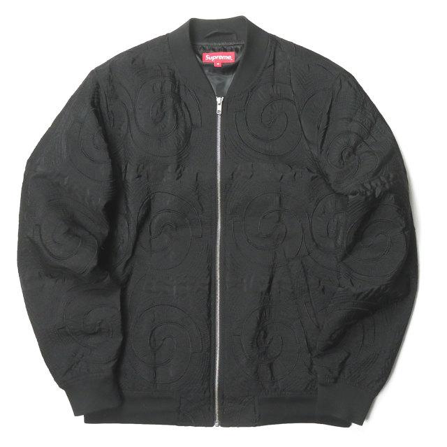 Supreme シュプリーム 14ss Up Town Jacket アップタウンジャケット M ブラック ブルゾン 刺繍 ジップアップ アウター【中古】【Supreme】
