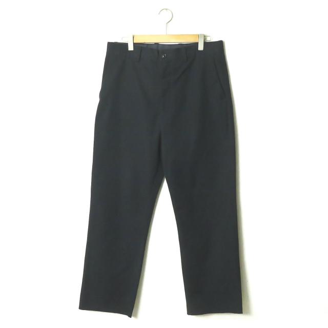 UNUSED アンユーズド 17AW 日本製 Wide Pants コットン/ポリエステルツイルワイドパンツ UW0603 4 ネイビー トラウザー ボトムス【中古】【UNUSED】